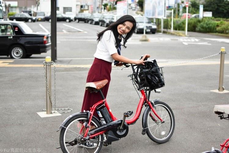 電動自転車の大きさをひかく画像