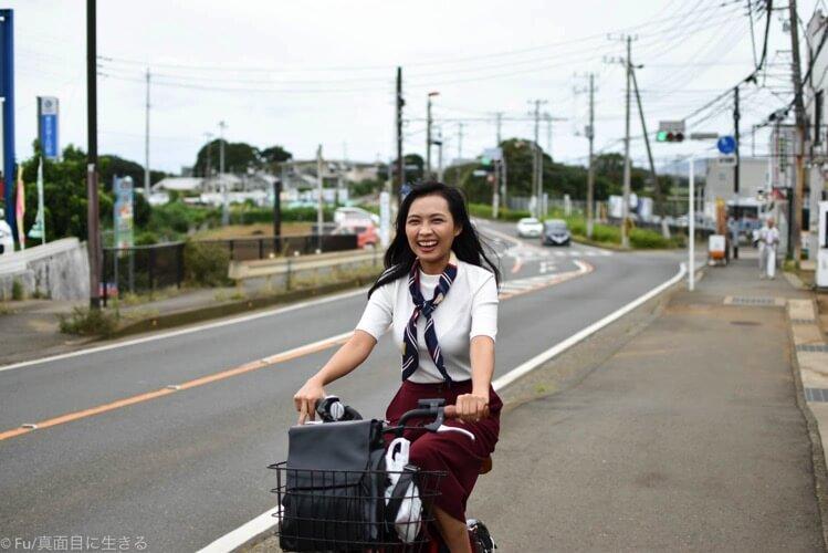 電動自転車で坂道