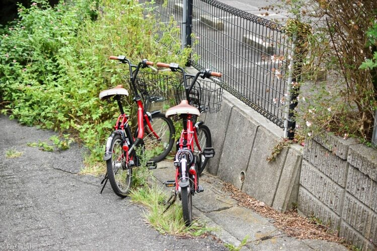 自転車を置いて行く