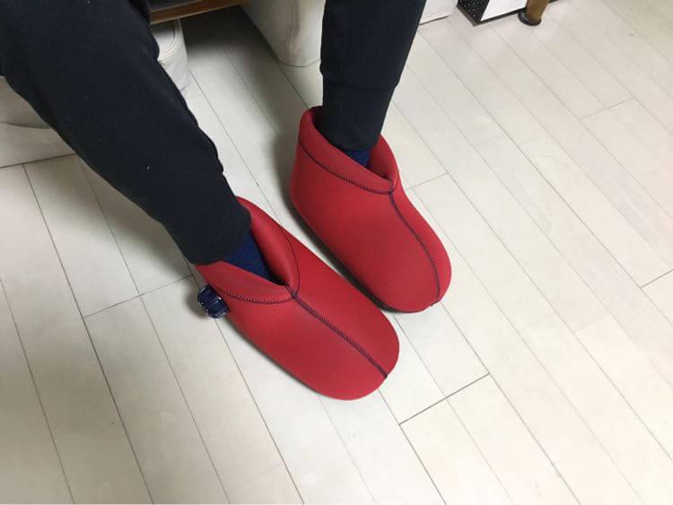 ブーツ型の湯たんぽ
