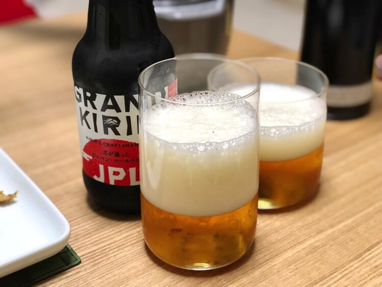 夕食のビール