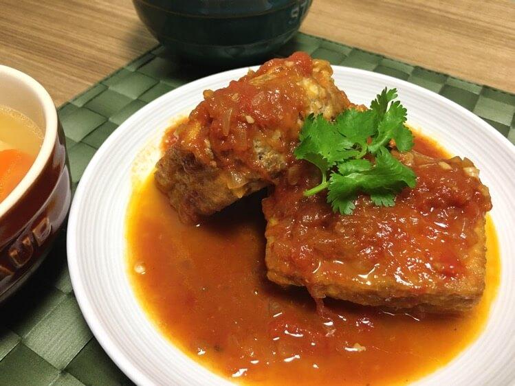 豆腐のトマト煮