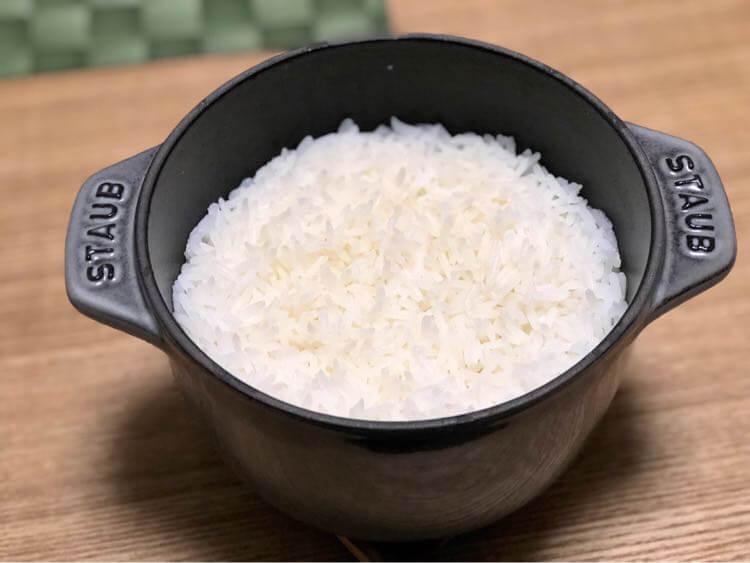 タイ米を炊いた