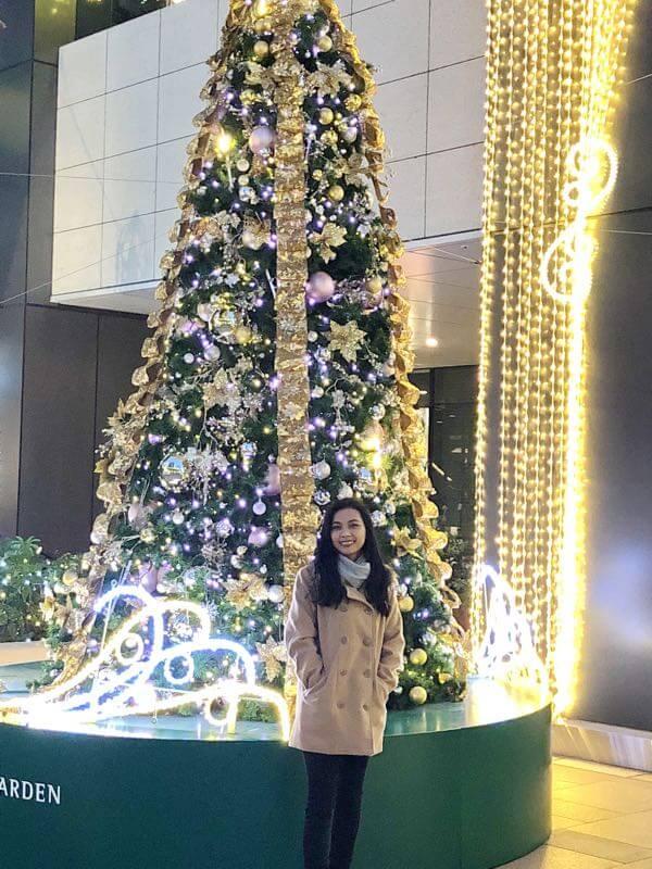 スクエアガーデンのクリスマスツリー