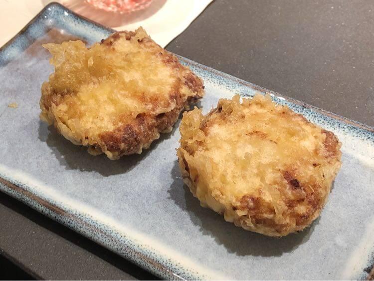 ズワイ蟹と蟹味噌のクリーム天ぷら