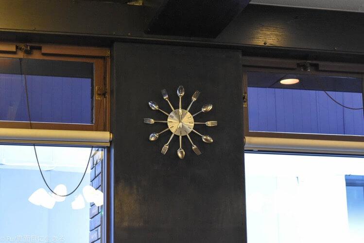 スプーン、フォークの時計
