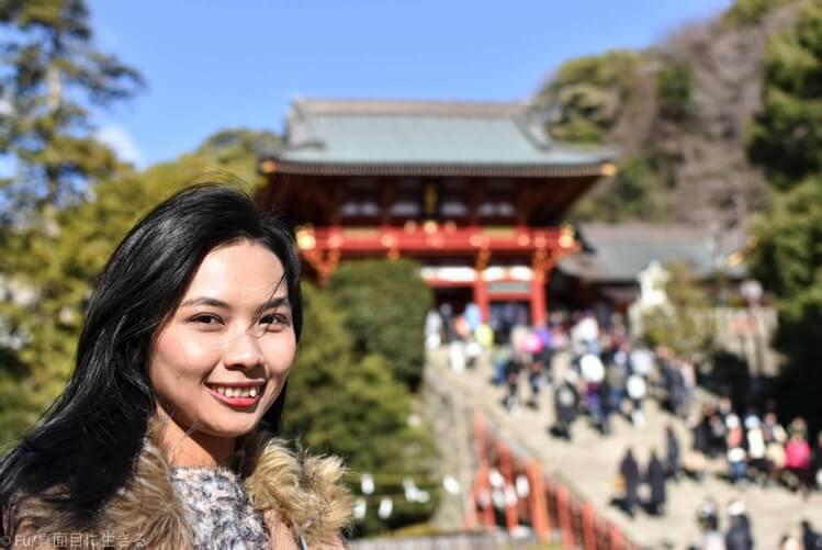 鶴岡八幡宮と嫁