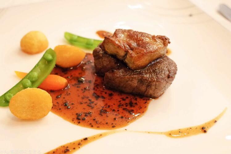 フィレ肉とフォアグラ