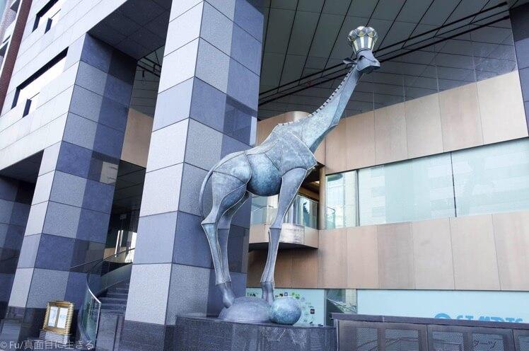 キリンの像