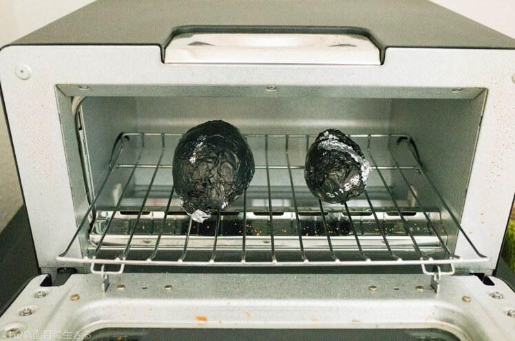 オーブントースターに並べた