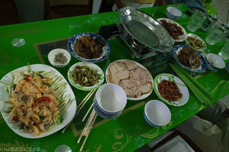 おじさんの家で夕食