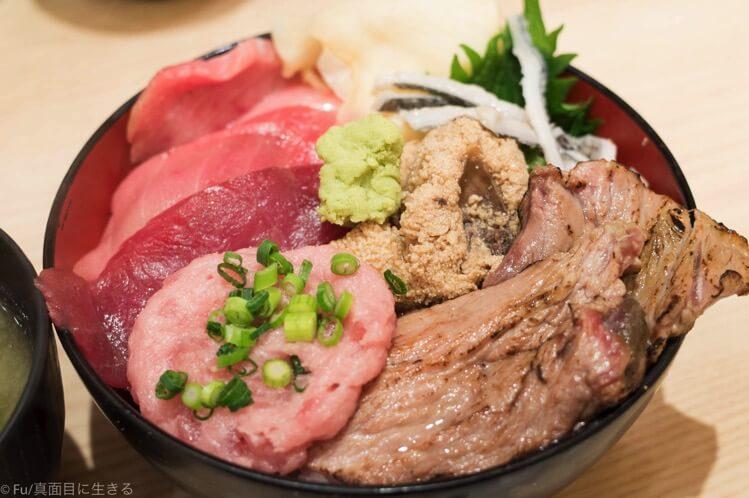 まぐろ一代 日比谷店 1日10食限定の『まぐろ一本丼』で希少部位を堪能