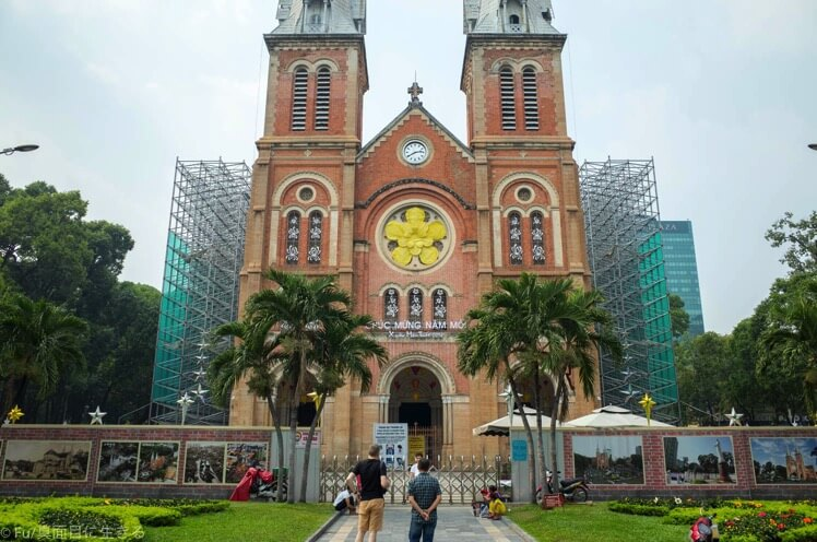 ホーチミン サイゴン大教会【修復工事中】工事完成は2019年末予定です