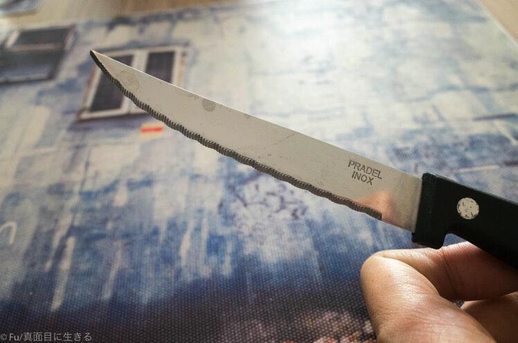 ステーキ用のナイフ
