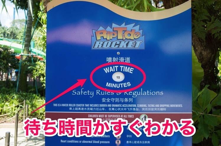 待ち時間が表示されている