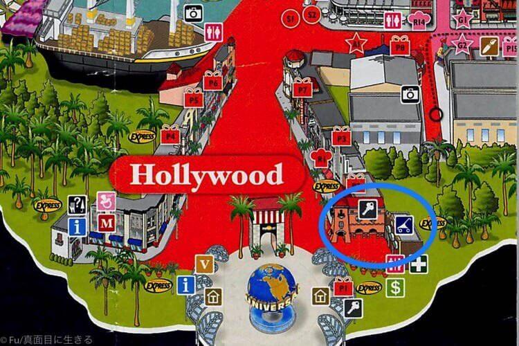 ユニバーサルスタジオシンガポール ロッカーマップ