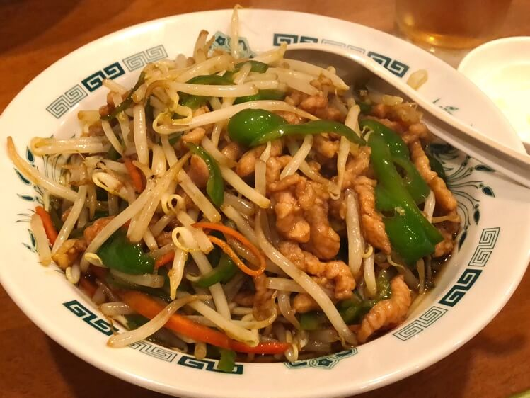 青椒肉絲温麺