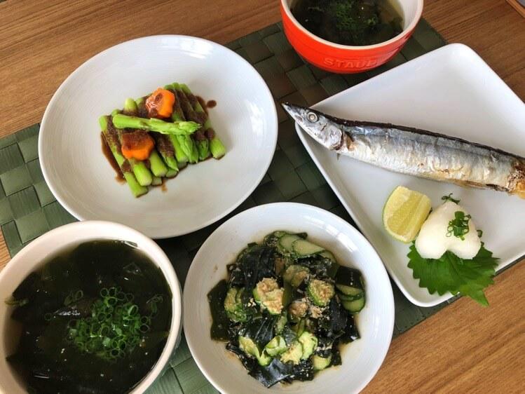 秋刀魚でランチ