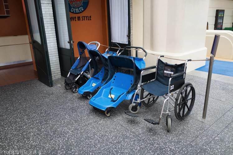 ユニバーサルスタジオシンガポール ベビーカー、車椅子レンタル