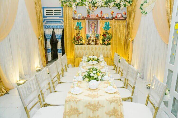 結婚式場の装飾