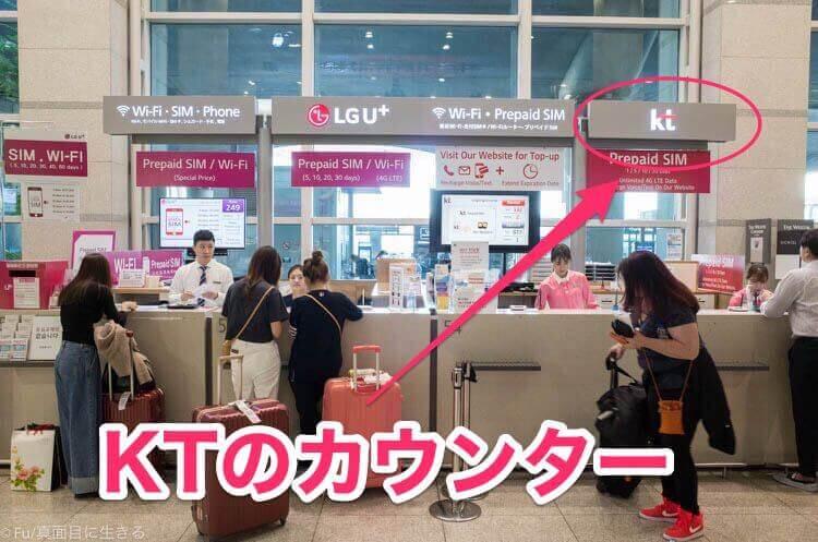 SIMカード購入 KTのカウンター
