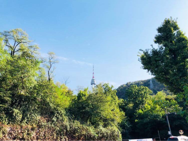 遠くから見る Nソウルタワー