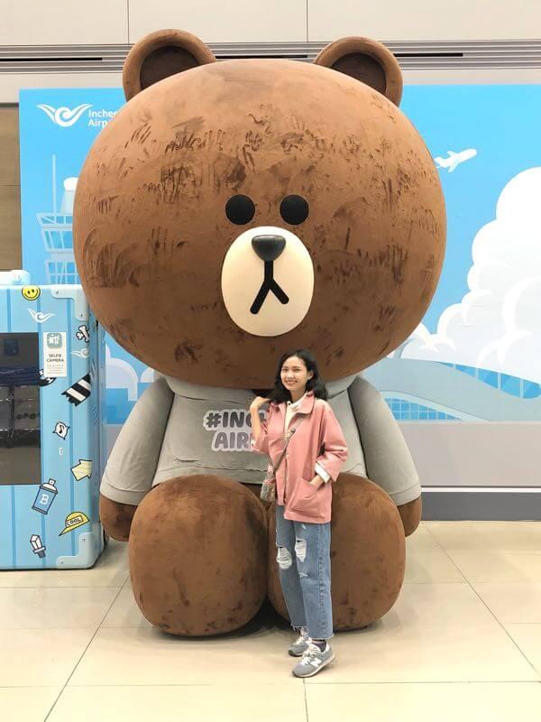 ソウル 空港のLINE熊