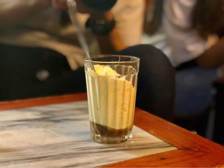 エッグアイスコーヒー