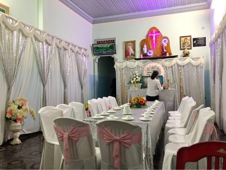結婚式の装飾 内側