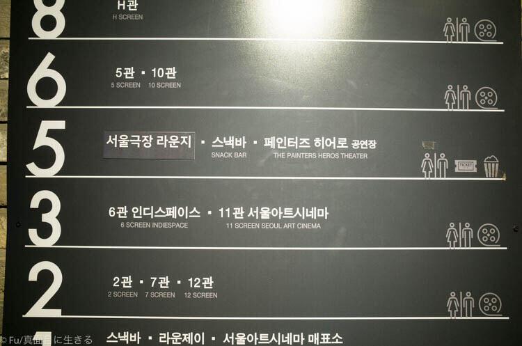 ソウル ペインターズ HERO 劇場は5階
