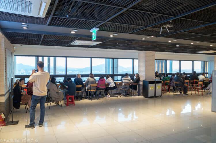 Nソウルタワー 眺めのいいカフェスペース