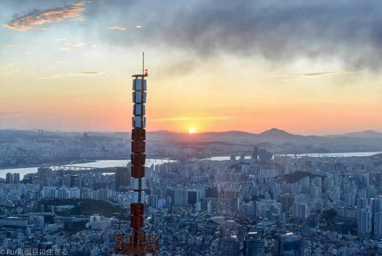 Nソウルタワー 夕日を見る