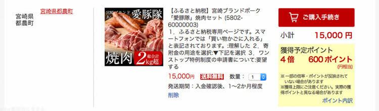 豚肉の楽天ポイント