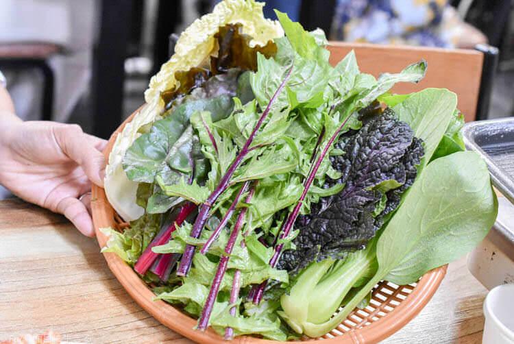 ウンジュジョン サムギョプサルを巻く野菜