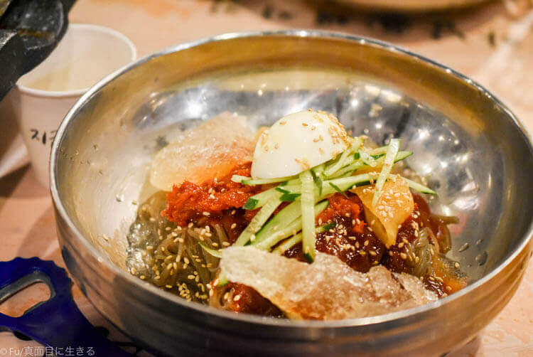 河南テジチッ 明洞1号店 魚入り冷麺
