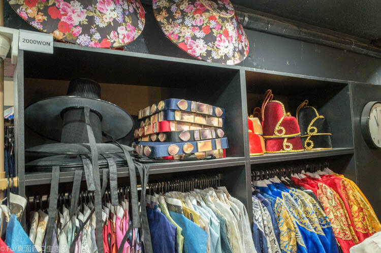 ソウル・景福宮で韓服(ハンボッ・チマチョゴリ)レンタル 有料の小物