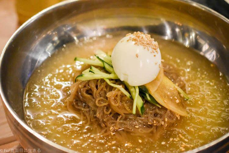河南テジチッ 明洞1号店 普通の冷麺