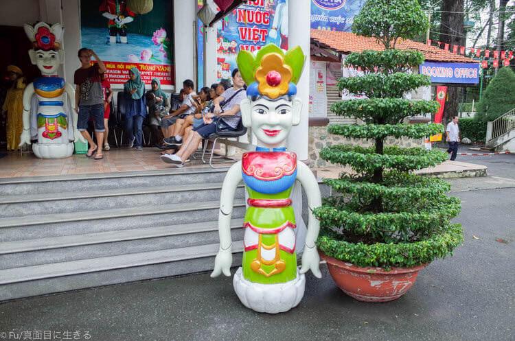 ホーチミン ロンヴァン水上人形劇場 奇妙な顔の人形