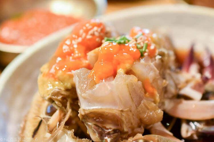 クンキワチプ カンジャンケジャン カニ肉のアップ
