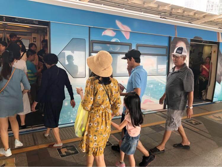 バンコクで初の電車