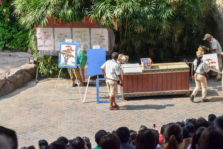 サファリワールド 象が書いた絵は500バーツ