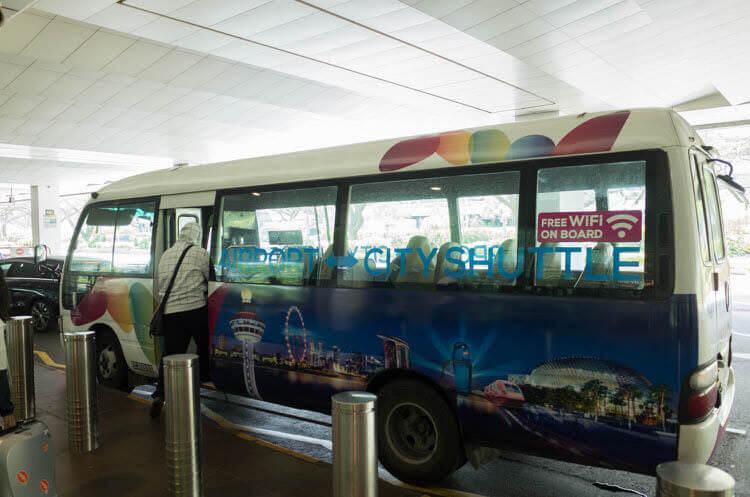 シャトルバス【シンガポール空港】市内のホテルに直通、早朝・深夜も運行