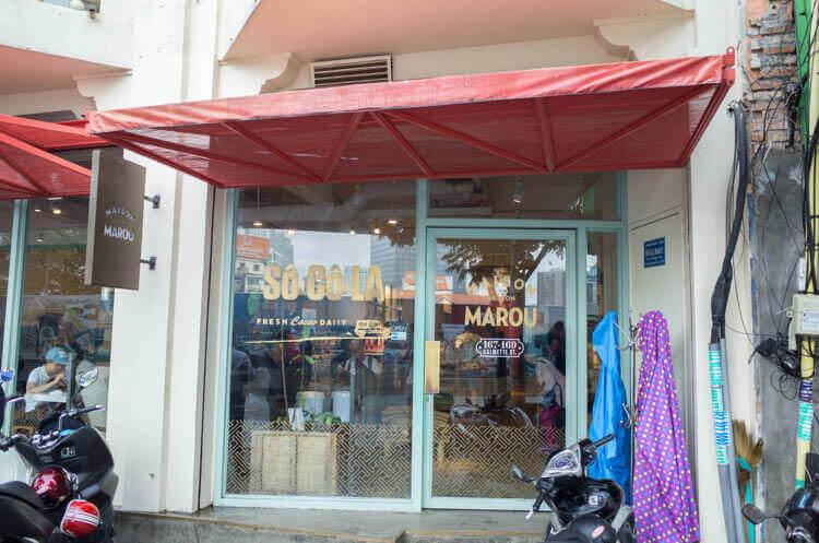 ホーチミン MAROU マルゥ 直営カフェ お店の外観