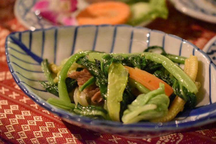 バンコククルージングディナー 野菜のオイスターソース炒め