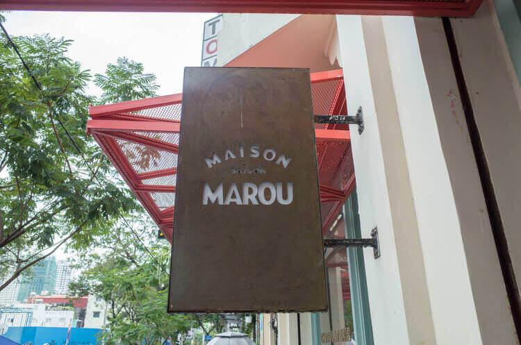 ホーチミン MAROU マルゥ 直営カフェ 看板