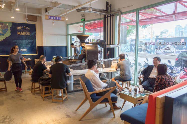 ホーチミン MAROU マルゥ 直営カフェ ゆっくりカフェ