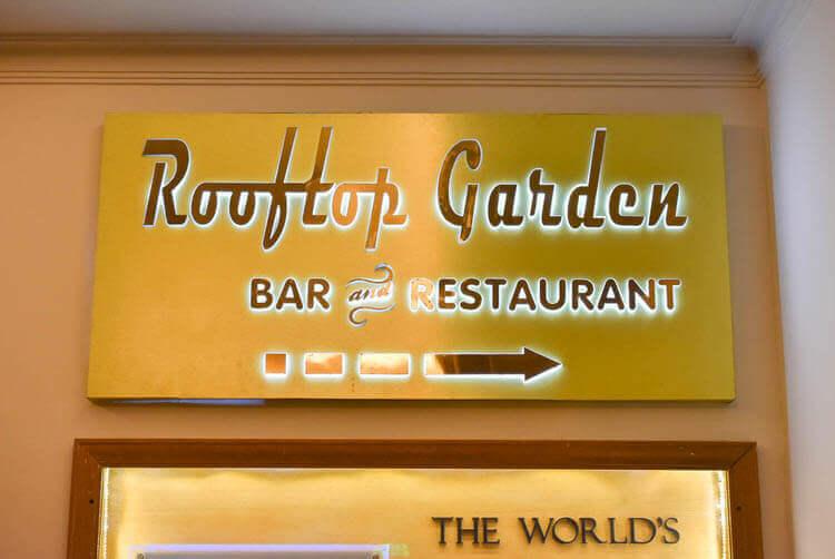 レックス ホテル サイゴン ルーフトップガーデンバー