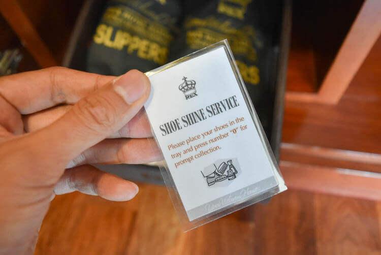 レックス ホテル サイゴン 靴磨きのサービス