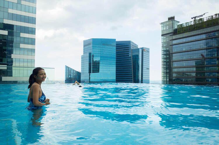 SPG Americanexpress シンガポールウェスティンホテルのプール