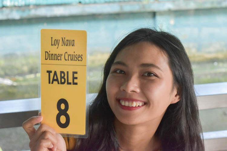 バンコククルージングディナー テーブル予約札